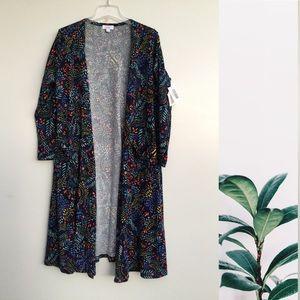 NWT Lularoe Sarah Floral Kimono Duster Large Blue